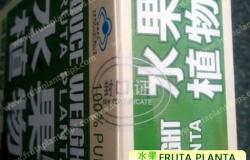 Certificado de cierre adhesivo - Fruta Planta